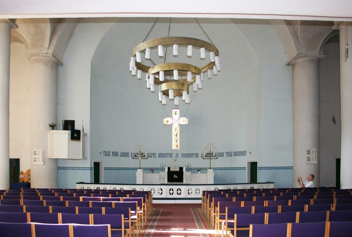 The church interior prior to renovation, in 2005, St Paul's Church