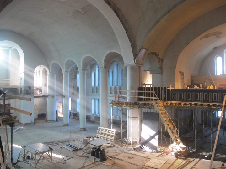 During renovation works, St Paul's Church