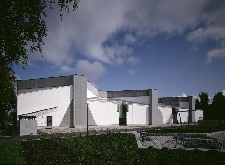 Courtyard facade, Joensuu City Library