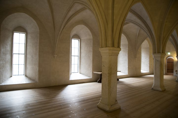 Rebuilt vaulting of the medieval King's Hall, completed in 1960, Turku Castle