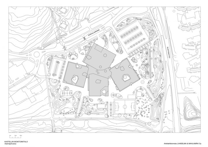 Site plan, Kastelli School and Community Centre
