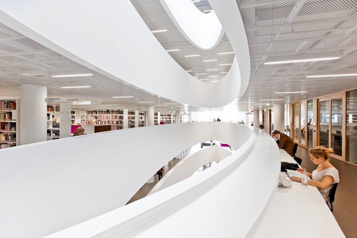 Collections and teamwork rooms., Helsinki University Main Library Kaisa