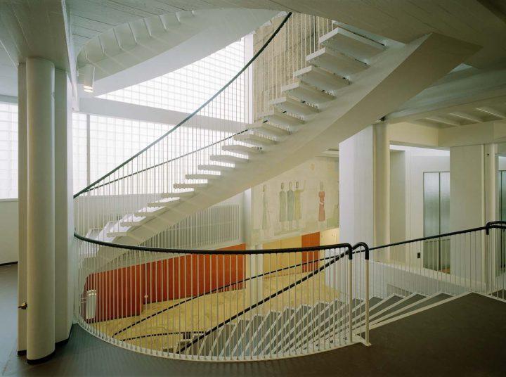 Main staircase, Helsinki University Porthania Building