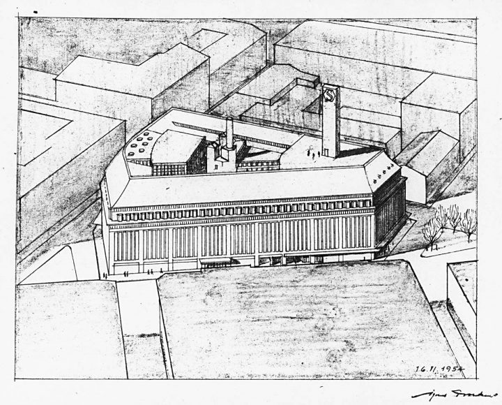 1954 extension proposal by Sigurd Frosterus, Stockmann Department Store