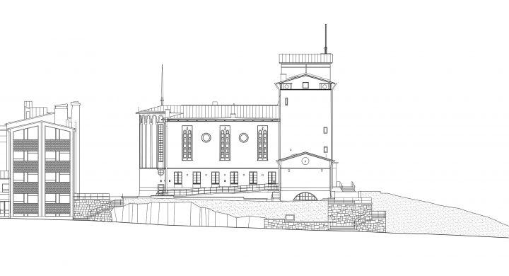 East elevation, Töölö Church