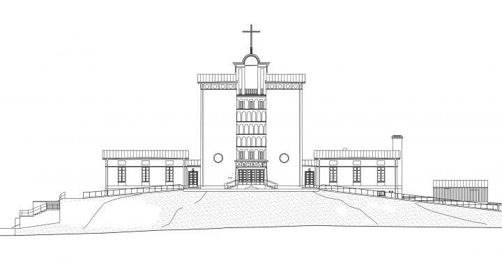 North elevation, Töölö Church