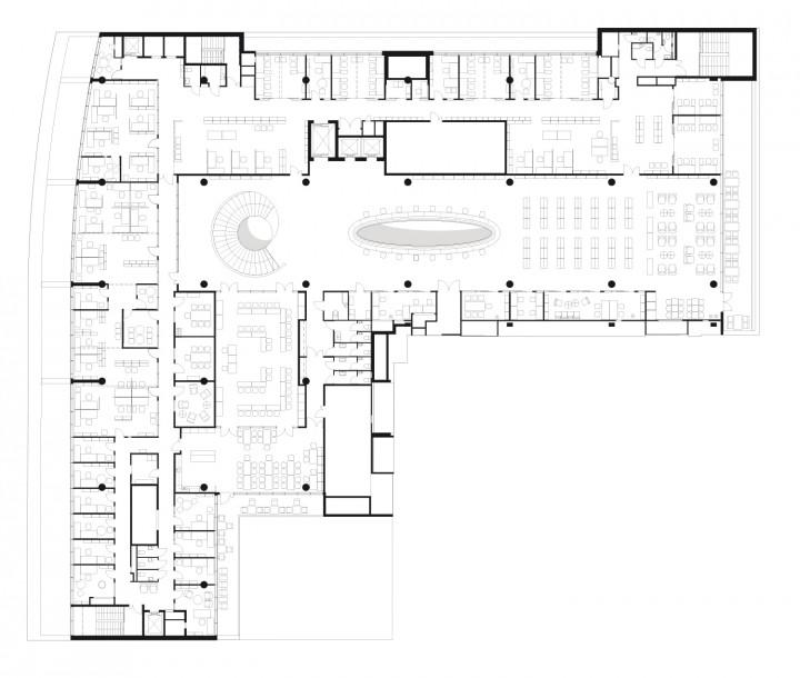 Top floor, Helsinki University Main Library Kaisa