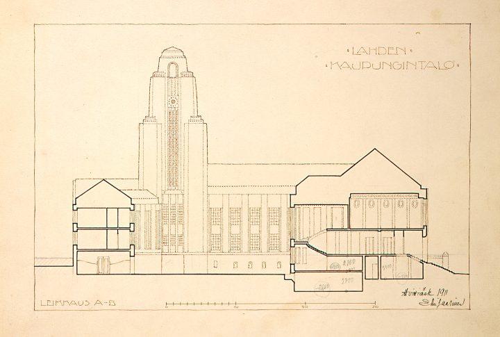 Original drawing, Lahti Town Hall