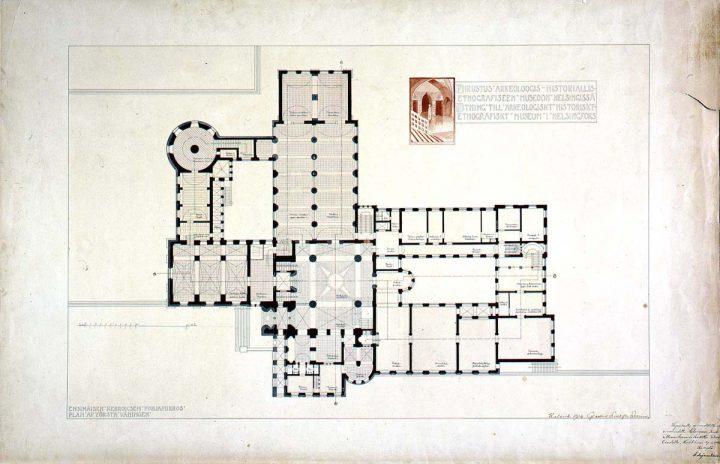 Ground floor plan., National Museum