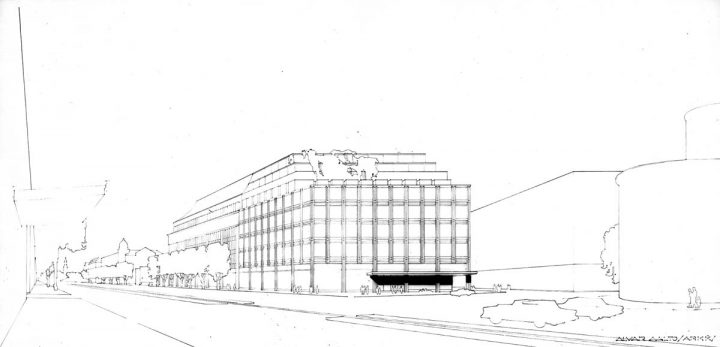 Extension proposal by Alvar Aalto, Stockmann Department Store