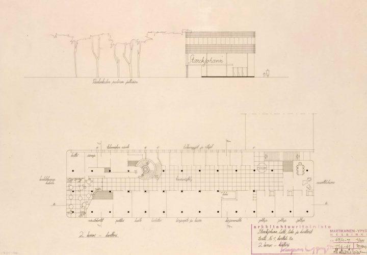Elevation and floor plan, Starckjohann Building