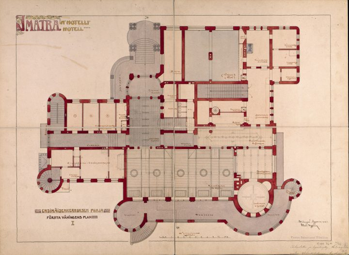 Original floor plan of the ground floor, The State Hotel