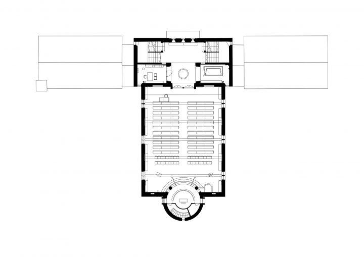 1st floor, Töölö Church