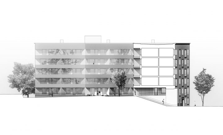Section, Heka Koirasaarentie 36 Affordable Housing