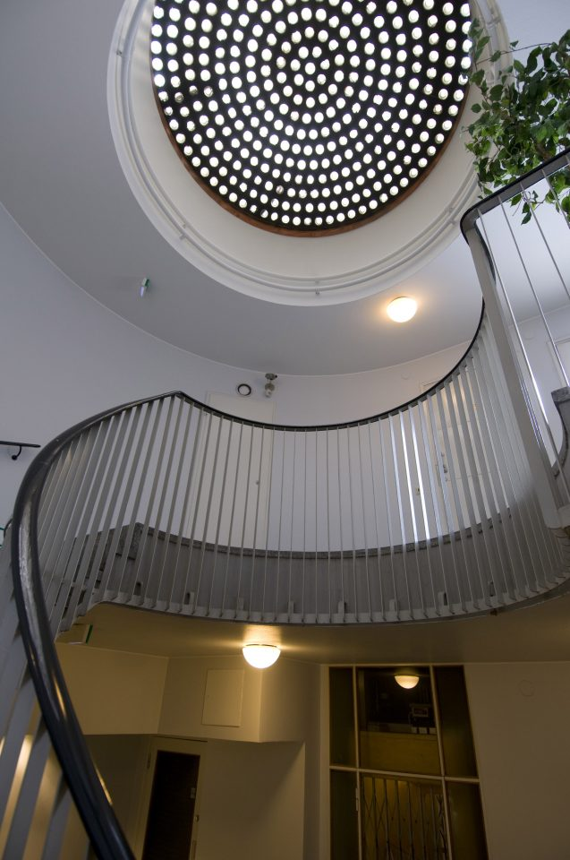 Staircase on the top floor, Bensow House