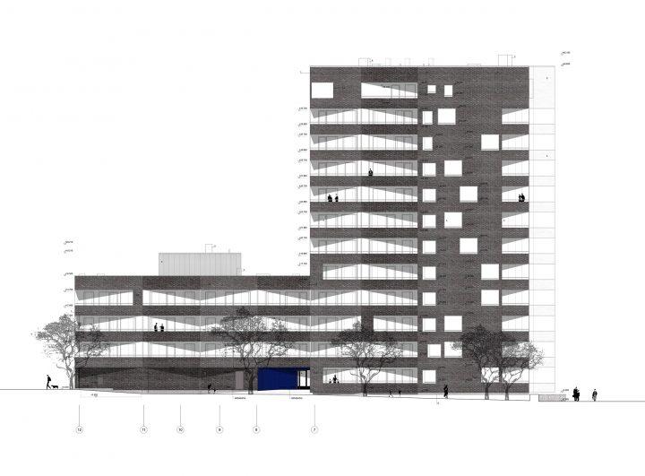 Elevation, Toukoranta Housing