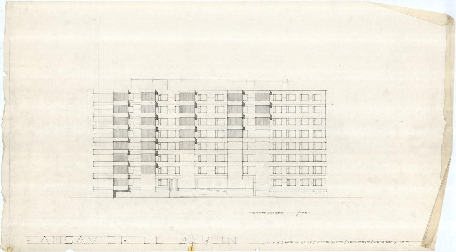 Ground Floor House Elevation Plan : Hansaviertel apartment house · finnish architecture navigator