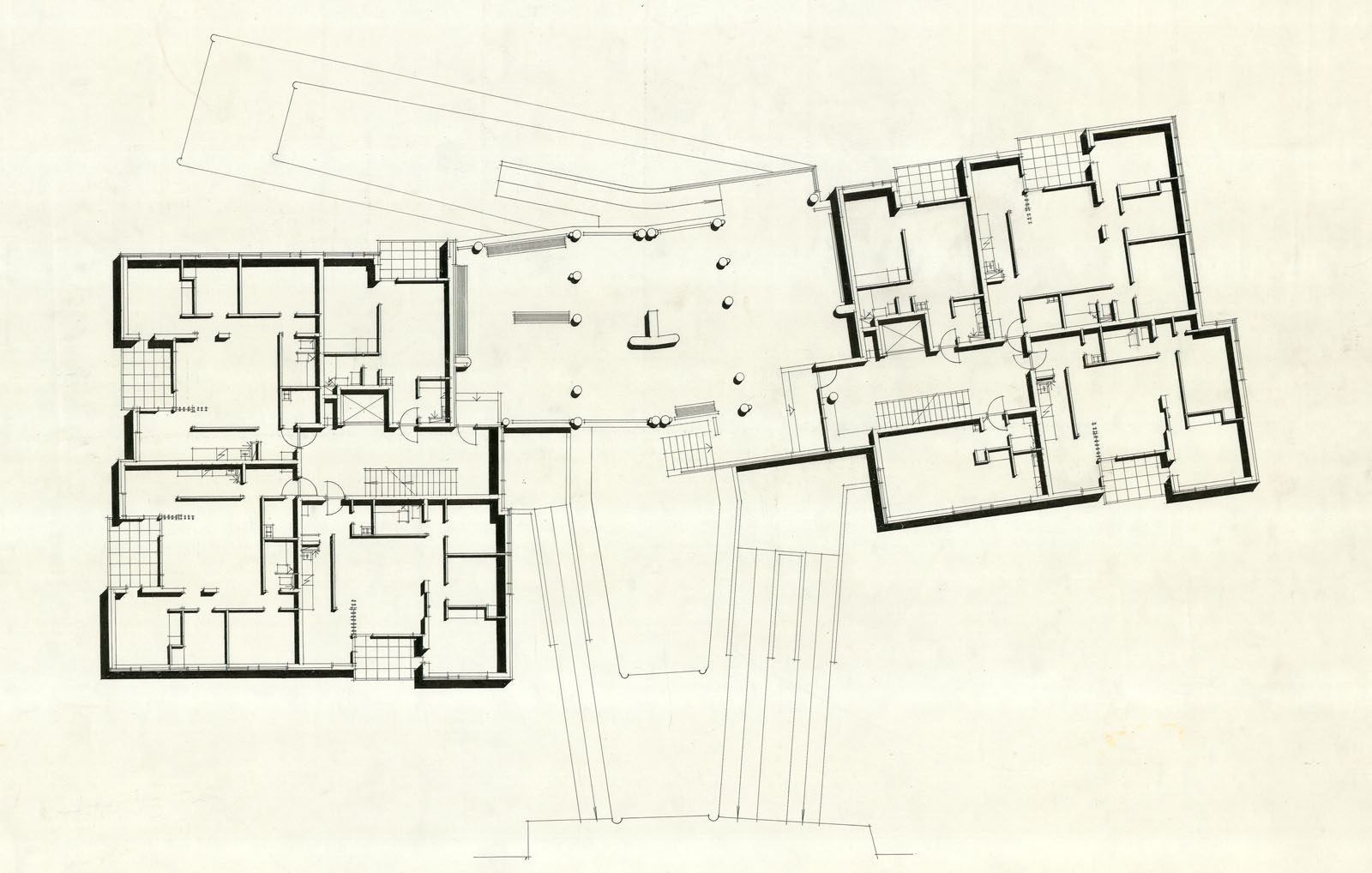Housing Floor Plans Hansaviertel Apartment House 183 Finnish Architecture Navigator