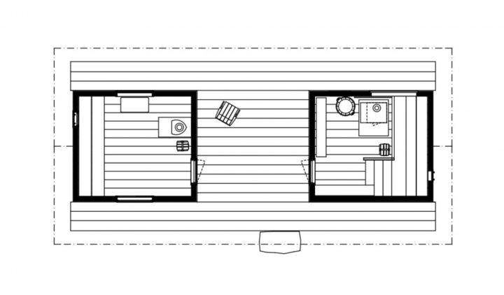 Floor plan, Sauna in Fiskars