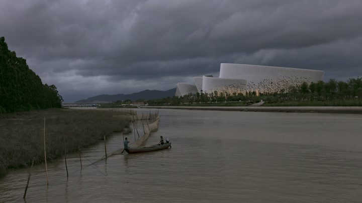 View from the river, Fuzhou Strait Culture and Art Centre