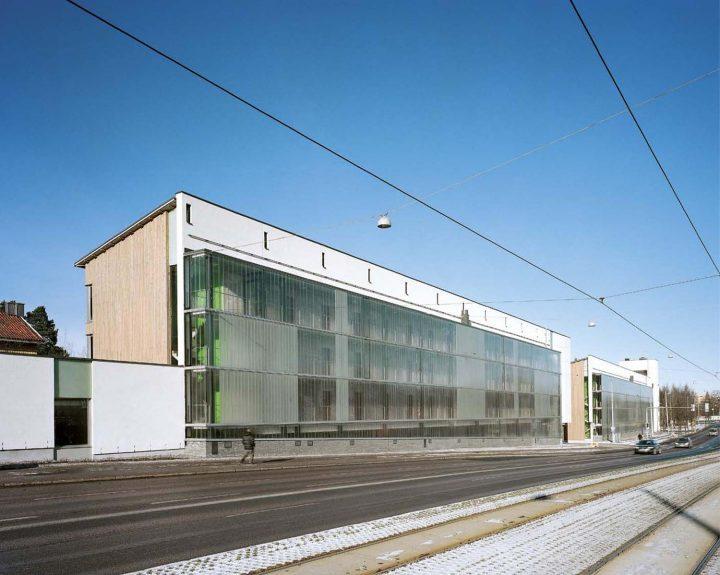 View from the Kustaa Vaasan tie Street, HOAS Kumpula Student Housing