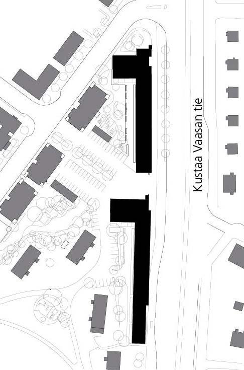 Site plan, HOAS Kumpula Student Housing