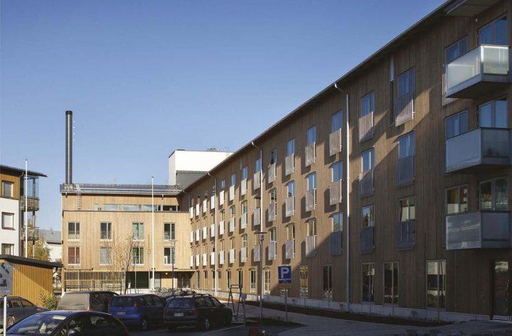 Courtyard view, HOAS Kumpula Student Housing