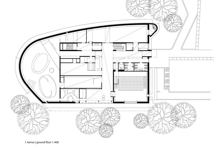 Site plan and ground floor, The Finnish Nature Centre Haltia