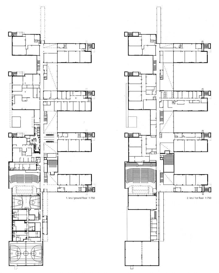 Ground floor and 1st floor, Helsinki University Teacher Training School
