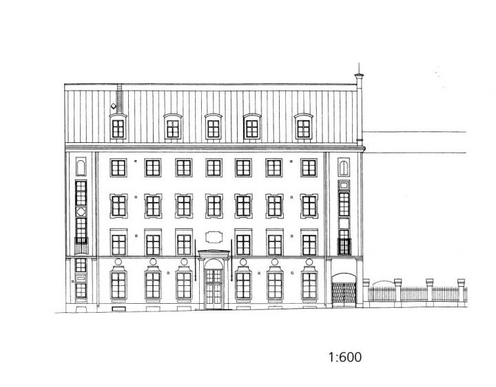 Street elevation plan, House of Learned Societies