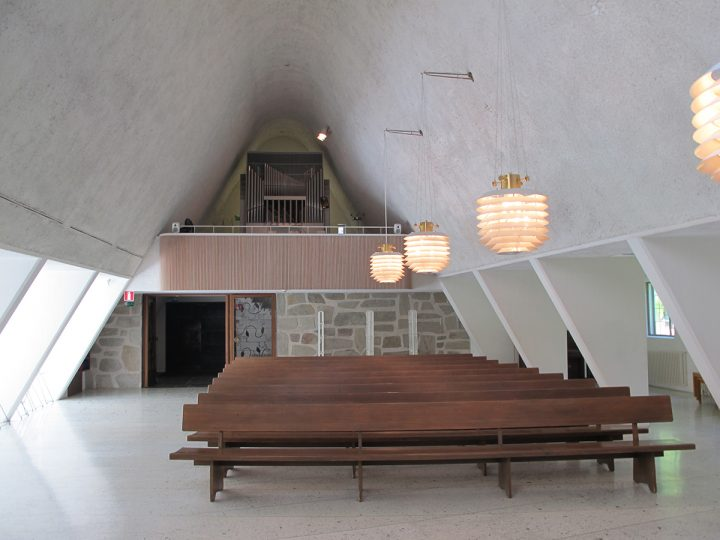 View towards the organ gallery, Metsola Funerary Chapel