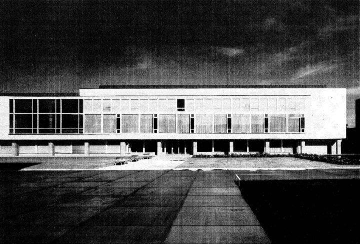 Library, east elevation, University of Turku Main Campus