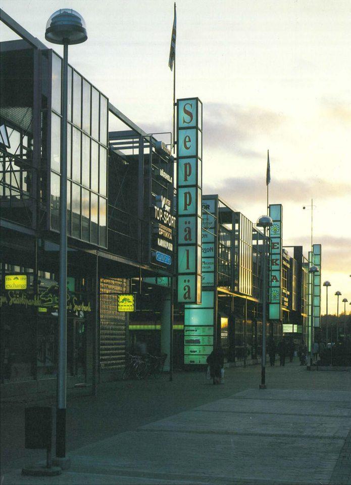 Elevation towards Tallinnanaukio square, Itis Shopping Centre 1st phase