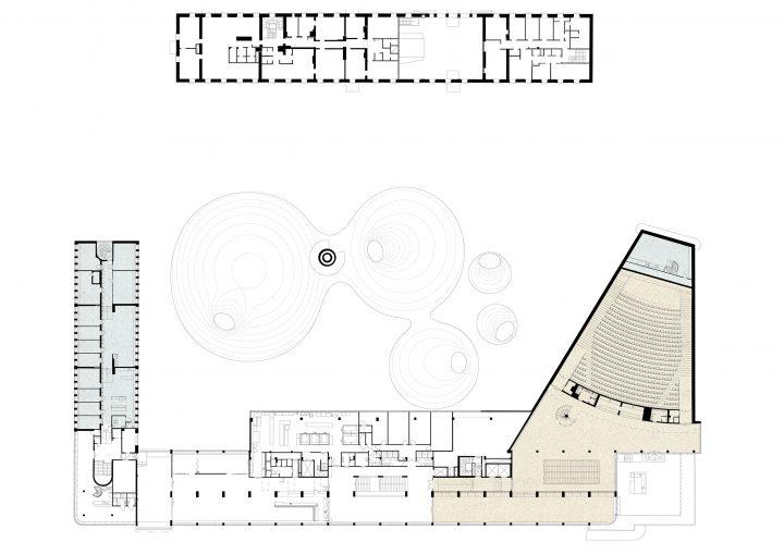 1st floor plan, Amos Rex and Lasipalatsi