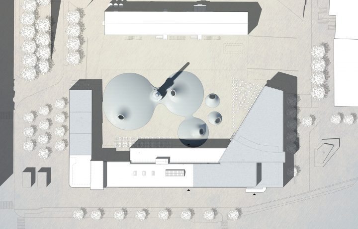 Site plan, Amos Rex and Lasipalatsi