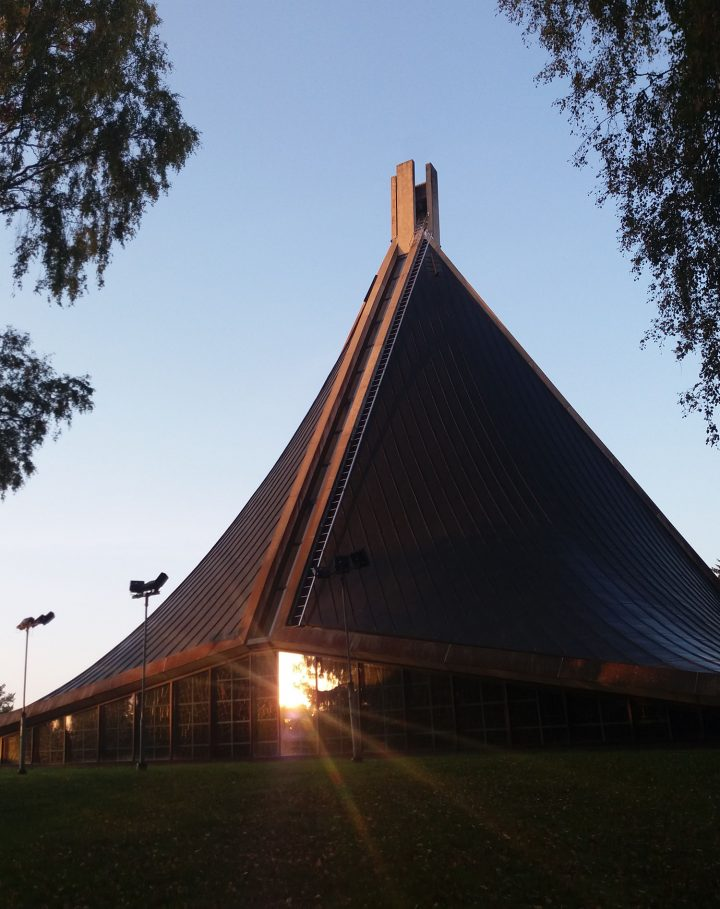 Church photographed from the South, Kannelmäki Church