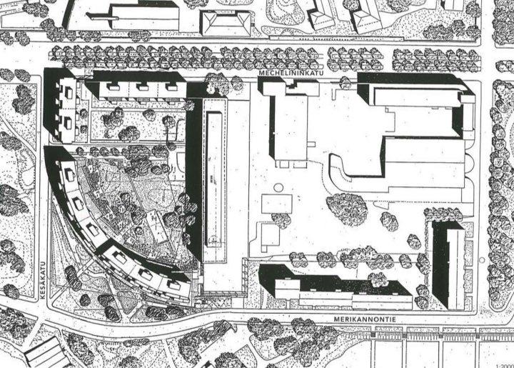 Site plan, Kesäkatu Housing