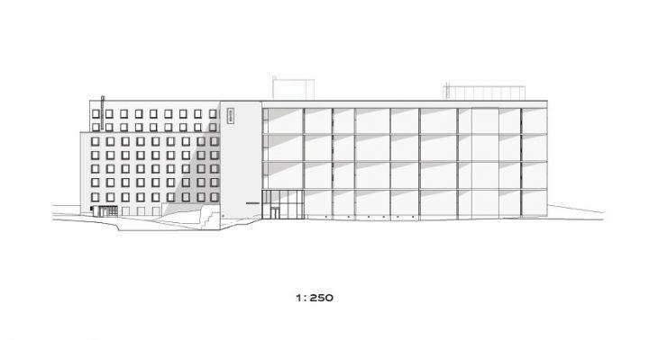 East elevation plan, Kumpula Student Housing