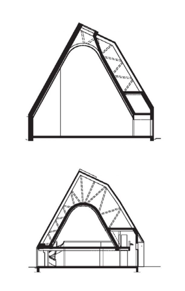 Section plans, Kuokkala Church