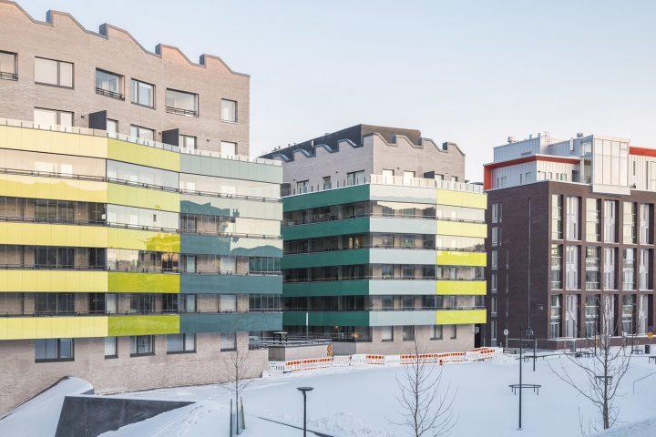 West elevations, Airut Housing Block