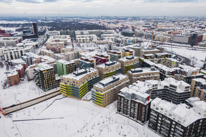 Aerial view from the south, Airut Housing Block