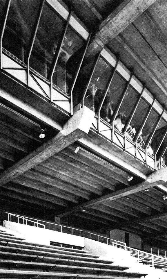 Detail of the grandstand, Lahti Stadium