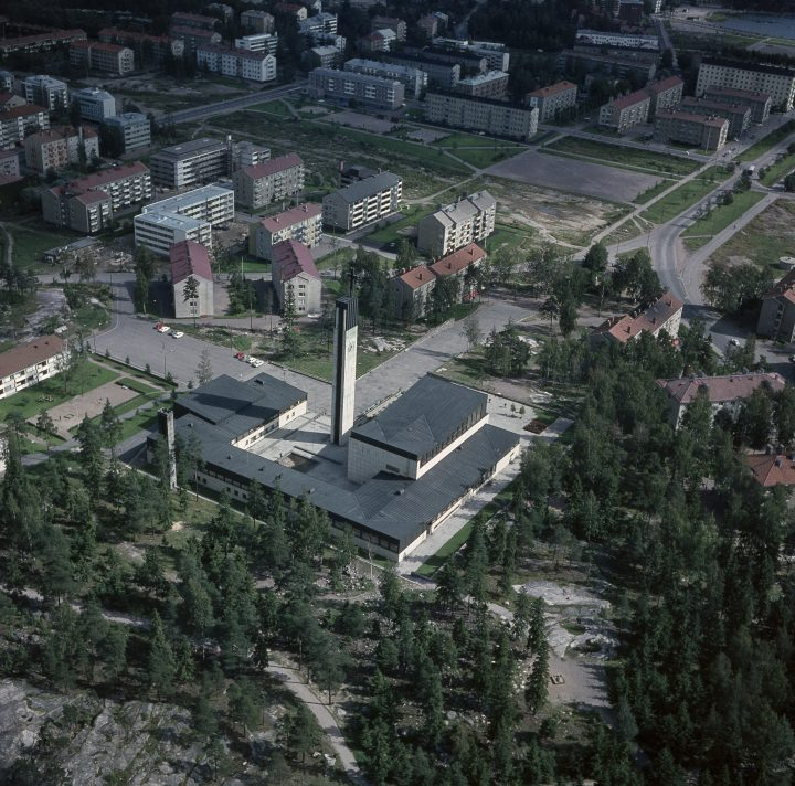Aerial view from 1964, Lauttasaari Church