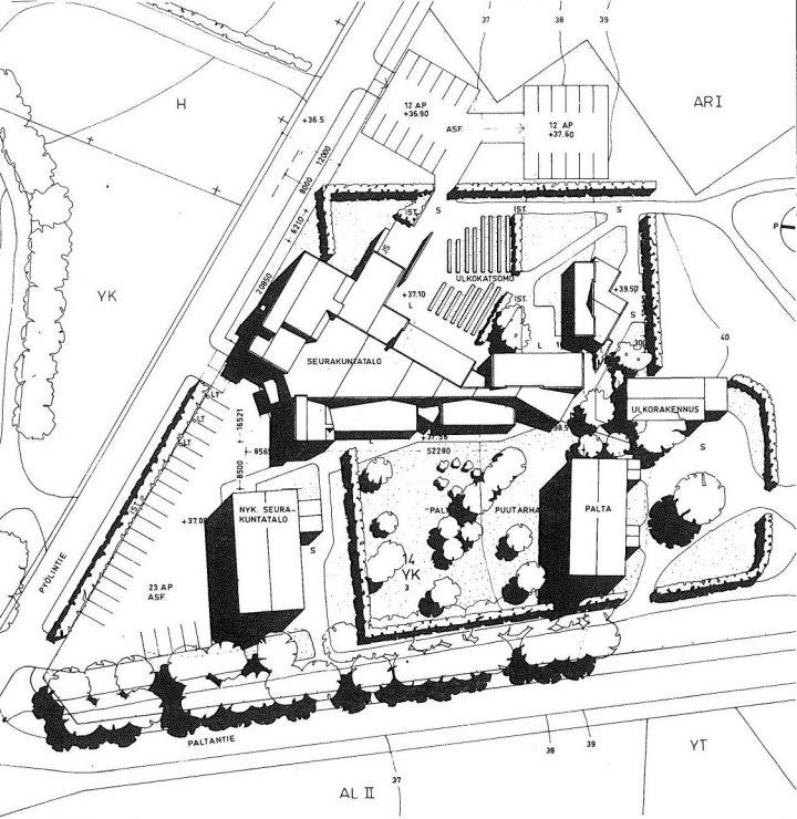 Site plan, Mikaelintalo Parish Centre
