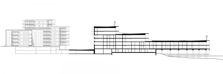 Section, Merenkulkijanranta Housing