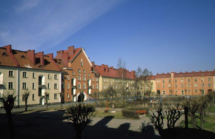 Courtyard, Workers' Housing for Kone ja Silta Ltd