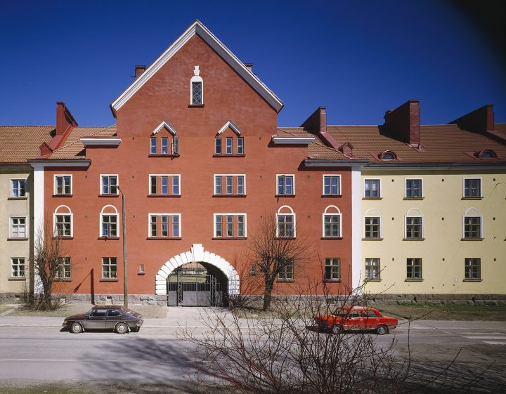 Street façade, Workers' Housing for Kone ja Silta Ltd