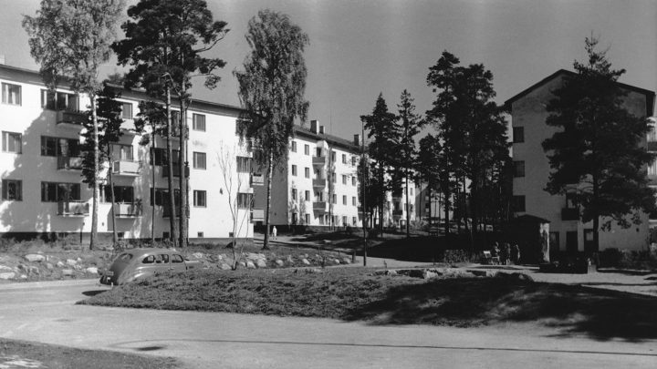 Intersection of Untamontie and Joukolantie in the late 1940s, Olympic Village