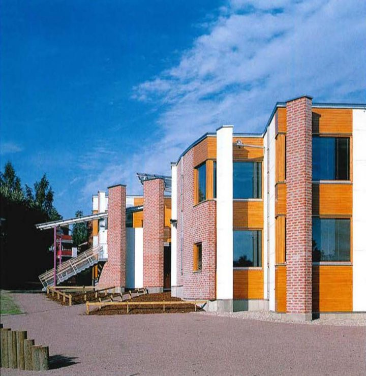 Southwest elevation, Pukinmäenkaari School