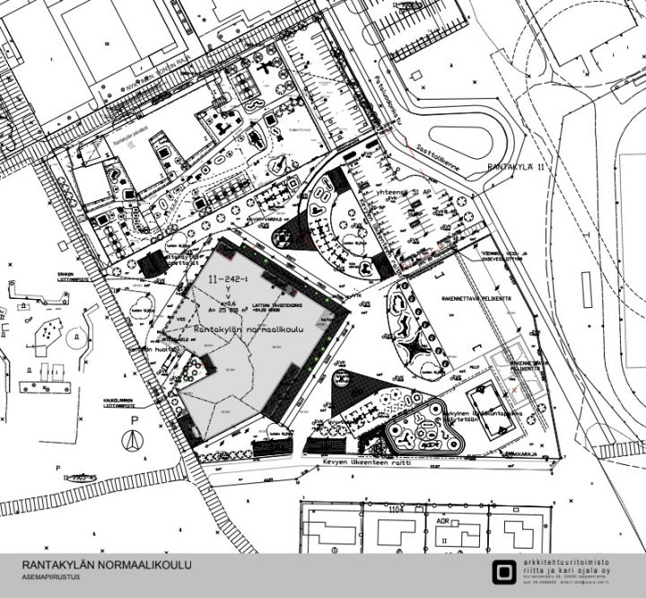 The site plan, Rantakylä Normal School